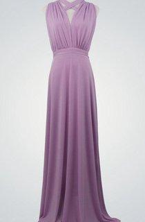 Purple Formal Purple Floor Length Evening Gown Infinity Lavender Bridesmaid Maxi Wrap Convertible Dress