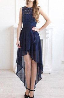 Floor-length Chiffon&Lace Dress