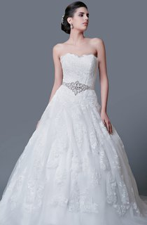 Glamorous Sweetheart Backless Ball Gown With Lace