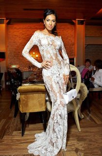 Sexy Illusion White Lace Prom Dresses 2016 Mermaid Long Sleeve