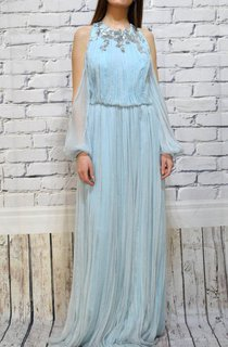 Chiffon Wedding Bohemian Wedding Wedding With Sleeves Engagement Pleated Wedding Silk Wedding Dress
