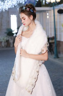 Korean Winter New Thickened Wedding Lace Lace Bridal Shawl
