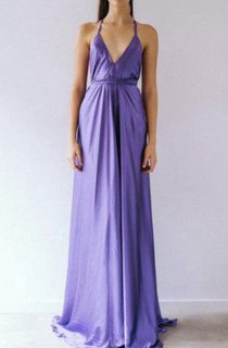 V-Neck Sleeveless Floor-Length Dress With Straps