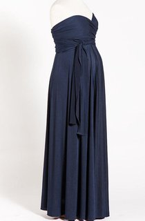 Navy Blue Infinity Long Maternity Dress