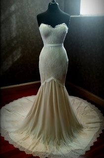 Mermaid Sweetheart Lace Long Dress With Zipper