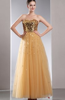 Romantic A-Line Dress With Sequins And Soft Tulle