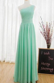 One Shoulder Mint Green Prom Sexy Long Evening Cheap Homecoming Chiffon Party Bridesmaid Dress