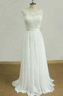 A-Line Sweetheart Chiffon Lace Satin Weddig Dress
