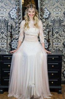 Tulle Jersey Satin Lace Wedding Dress