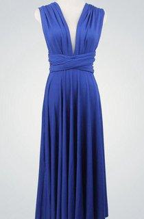 Short Blue Short Short Infinity Mini Wrap Royal Blue Short Knee Length Dress