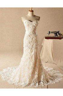 Gorgeous Sweetheart Lace Appliques Wedding Dresses 2016 Long