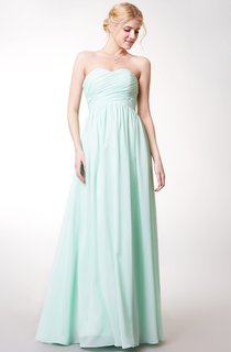Sweetheart Empire A-line Chiffon Bridesmaid Dress