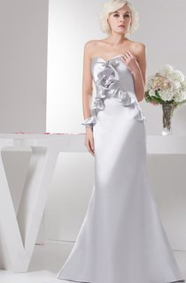 Sweetheart Satin Mermaid Gown with Draping