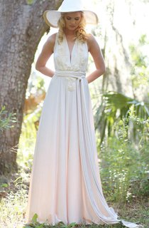 Convertible Wrap Gown With Couture Detailing And Train Dress