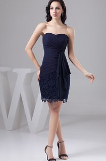 Sweetheart Criss-Cross Mini Dress with Lace and Draping
