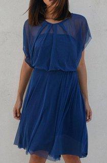 Knee-length Chiffon Dress With Tiers
