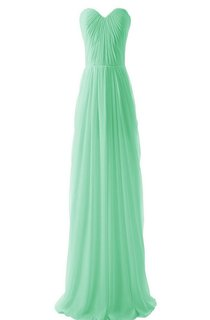Chic Strapless Sweetheart Pleated Chiffon A-line Gown