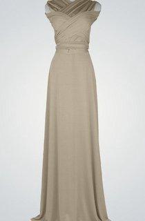 Simple A Line Long Bridesmaid Nude Long Floor Length Prom Long Prom Party Long Bridesmaid Dress