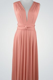 Convertible Sleeveless Chiffon V-Neck Dress With Pleats