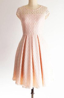 Gossamer Petal Pearl Petal Pink Lace Bridesmaid Rose Quartz Pantone 2016 Pink Vintage Inspired Lace Wedding Dress