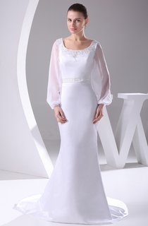 Elegant Square-Neck Long-Sleeve Mermaid Dress With Beading