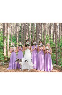 Lilac Floor-length Jersey Dress