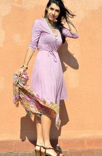 Classic Short V Neck Jersey Dress