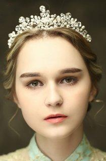 Western Style Bridal Hair Accessories Crown Crystal Pearl Hair Accessories