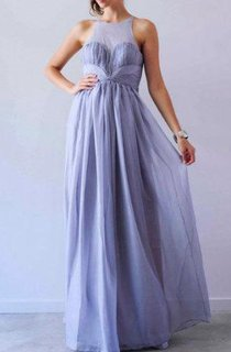 Light Purple Floor-length Chiffon Dress