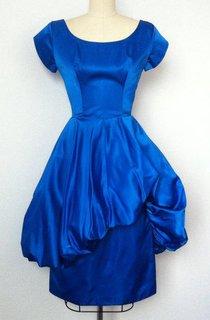 60S Electric Blue Vintage Dress