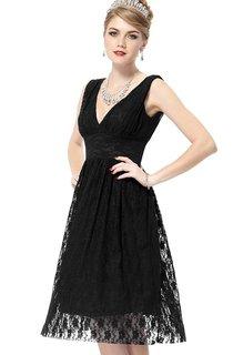 V-neckline All-over Lace Wedding Dress With V-back