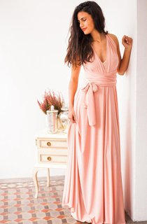 Convertible Floor-length Jersey Dress