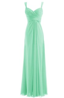 Straps Ruched A-line Gown With Deep-v Back