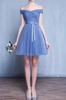 Blue Vintage Prom Evening Bridesmaid Gown Dress
