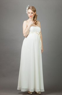 Annie Long Maternity Wedding With Bolero Dress