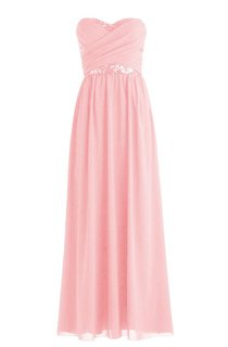 Sweetheart Criss-cross Sequined Pleated Chiffon A-line Dress