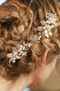 Western Style Bride Headdress Pearl Hairpin Headdress