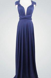 Royal Blue Infinity Convertible Long Infinity Blue Infinity Wrap Infinity Party Dress