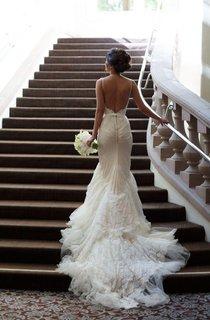 Sexy Spaghetti Strap Mermaid Tulle Wedding Dress Long Train