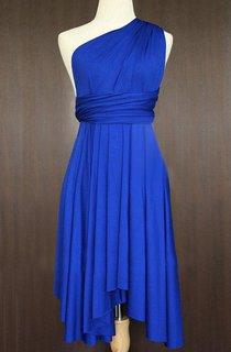 Cobalt Blue Bridesmaid Convertible Twist Wrap Dress