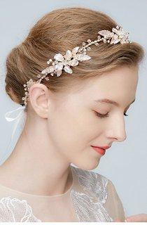 Western Style Handmade Beautiful Flowers Leaves Vine Rhinestones Crystal Soft Band