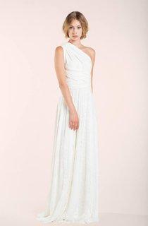 Jersey Satin Lace Backless Wedding Dress