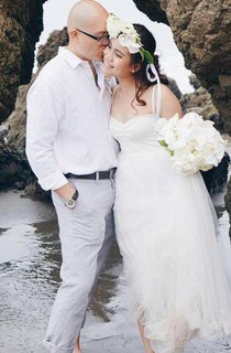 Floor-Length Sweetheart Tulle Wedding Dress
