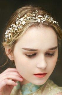 Western Style Bride Crystal Diamond Fresh Headdress