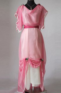 Edwardian Pastel Pink Evening Made In England Downton Abbey Inspired Titanic Styled Dress