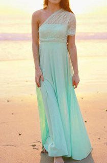 Mint With Seafoam Lace Straps Infinity Convertible Wrap Maternity Plus Size Dress