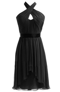 Sleeveless Asymmetrical Dress With Criss-cross Style