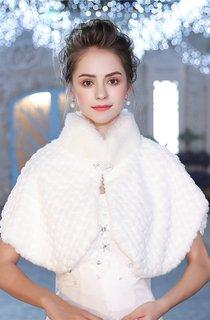 New Winter Korean White Warm Vertical Collar Fur Collar