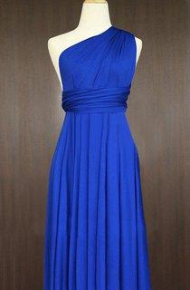 Short Cobalt Blue Infinity Multiway Bridesmaid Convertible Wrap Dress