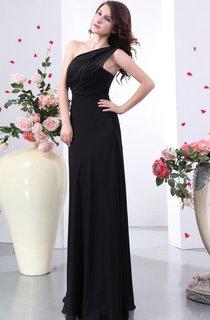 Impressive Ruched Maxi Asymmetrical One-Shoulder Dress
